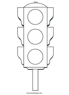 Resultado de imagen para semaforo para colorear