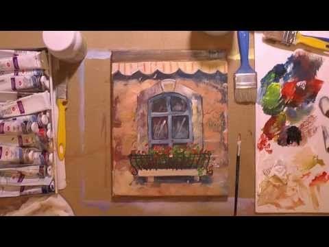Пишем картину «Окно», используя акрил и текстурную пасту - Ярмарка Мастеров - ручная работа, handmade