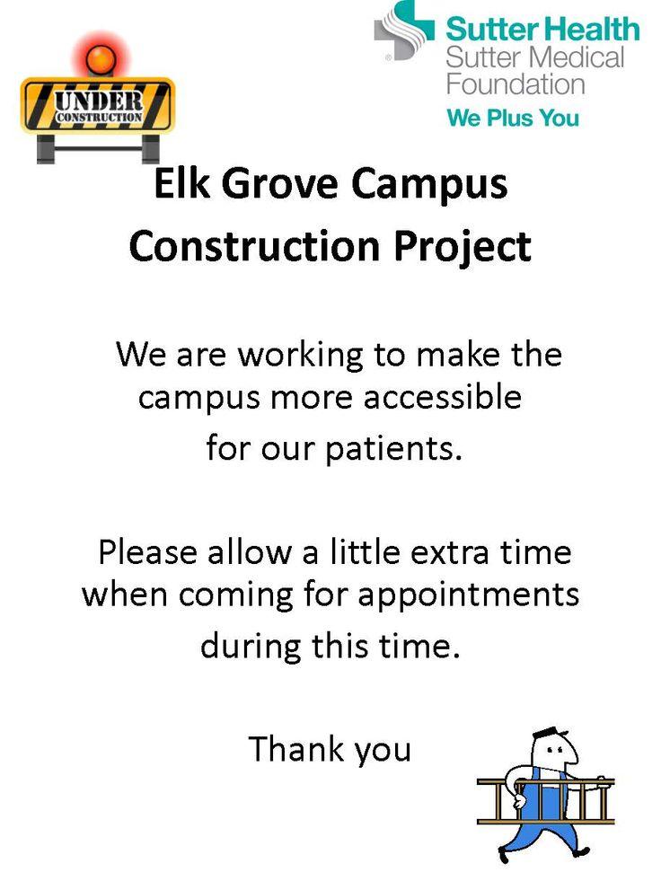 At our Elk Grove Medical Campus located at 8170 Laguna