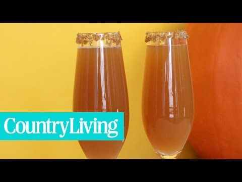 Apple Cider Mimosas - How to Make Apple Cider Mimosas  Apple cider, champagne Rumble with syrup and brown sugar
