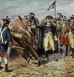 On this day in American history the Revolutionary War effectively ended with the surrender of Cornwallis at Yorktown.  The Yorktown campaign proved to be the last major battle of the war.