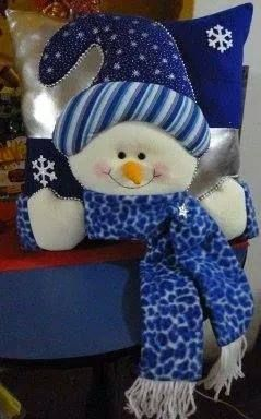 cojín de muñeco de nieve