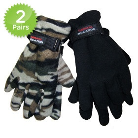 2 Pairs: Thermal Insulation Winter Gloves