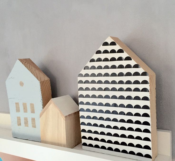 DIY: pimp je huisje- http://www.galerie-lucie.nl- DIY: decorate wooden houses