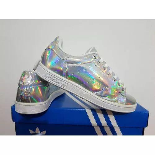 Tênis Adidas Stan Smith Originals Holográfico Couro Promoção - R$ 229,00