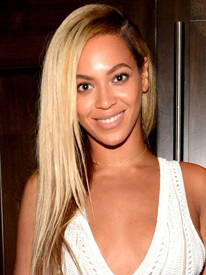 Beyonce's long, over-the-shoulder hair