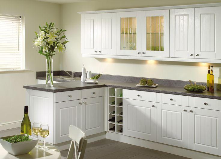 #White #Sorrento #Kitchen from John Nicholls #HomeDecor