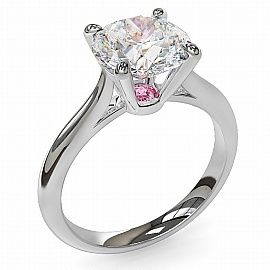 STUNNING 2.00ct Round Brilliant Accentuated by a Delicate Pink Argyle Diamond. Available at Carati Jeweller. engagement-rings beauty