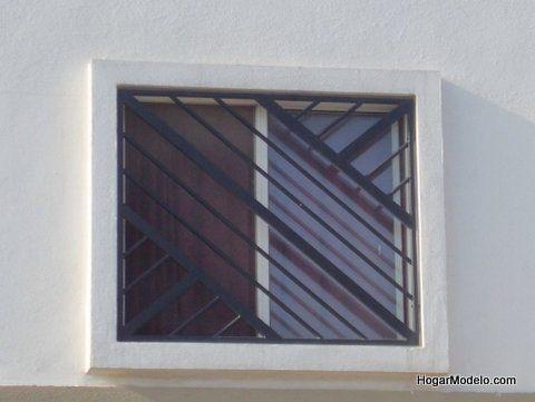 Verja inclinada de ventana