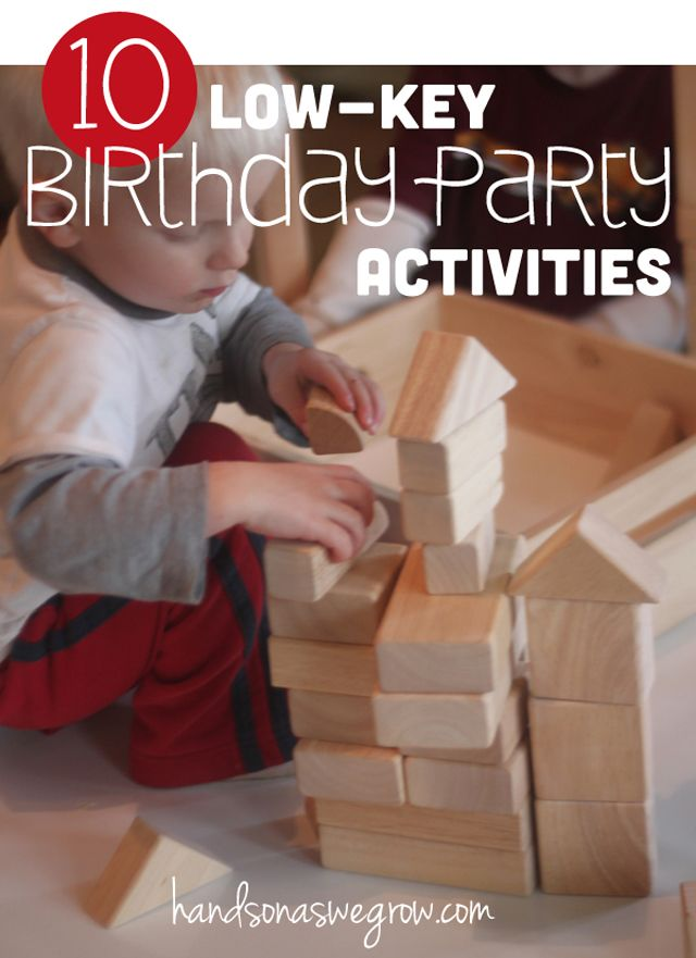 Birthday party activities that are simple, low-key and doable! No pressure!
