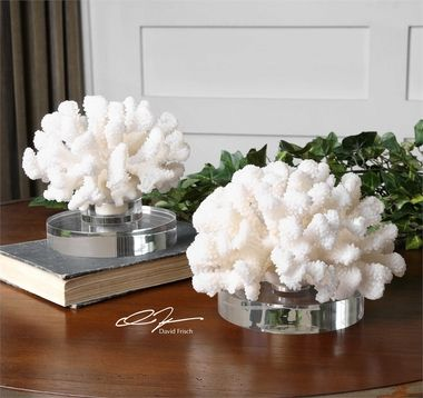 Uttermost Hard Coral Sculptures, S/2