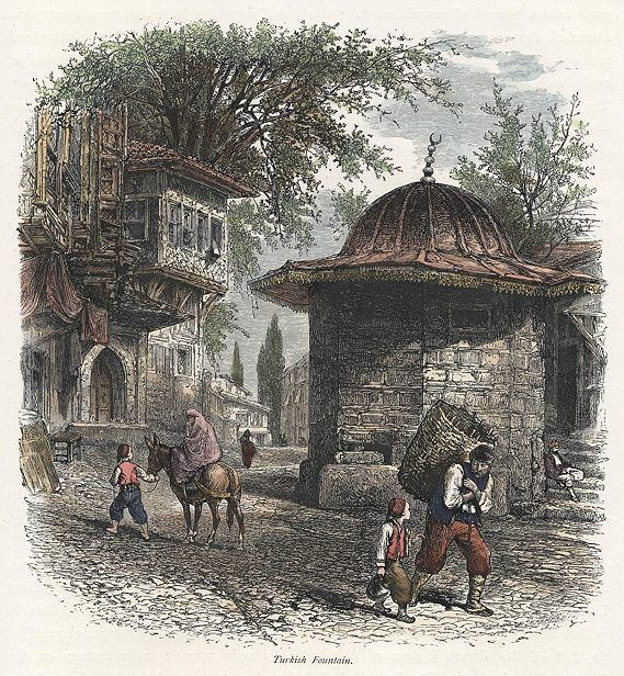 Turkey, Istanbul, Turkish Fountain, 1875