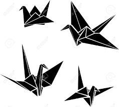 Image result for paper cranes drawing