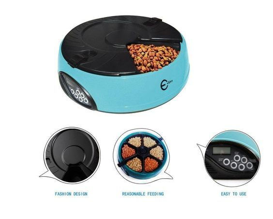 Esky® 6 Meal LCD Automatic cat Feeder with 6 Second Voice Message ** Find out more details by clicking the image : Cat Collar, Harness and Leash
