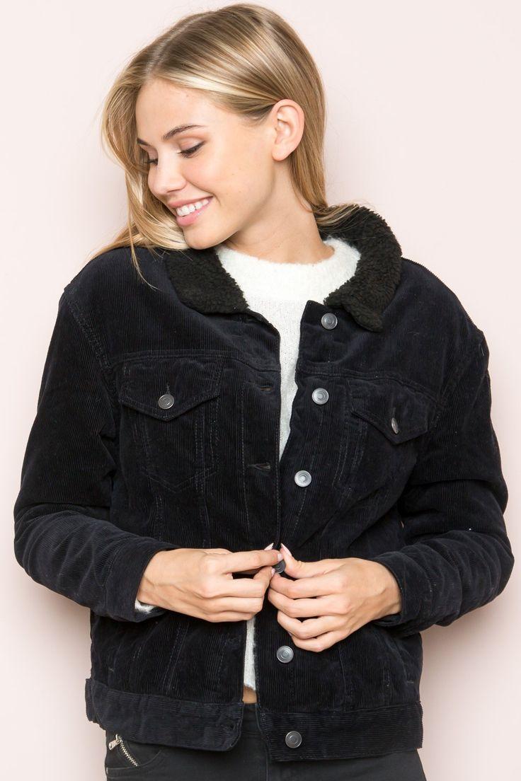 Ladies black corduroy jacket
