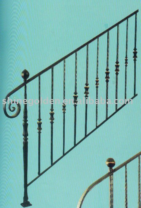 Wh 247e 2012 Wrought Iron Handrails Outdoor Stairs 20 70