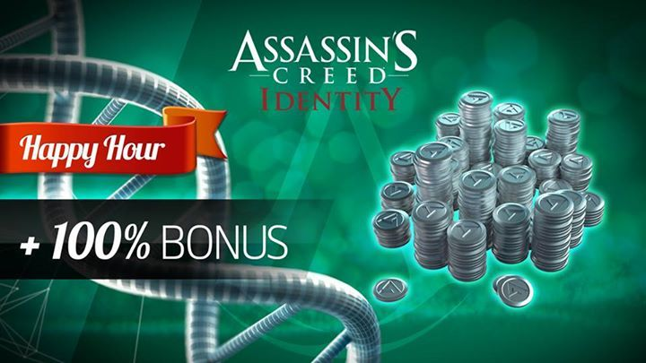 HAPPY HOUR is on! For a limited time, you get 100% BONUS coins with each Coin Pack purchase in the Shop. This is your chance to get those extra coins you need for new items, skill points and more!  Get Assassin's Creed - Identity TODAY on Google Play at http://ubi.li/5dey5 and the App Store at http://ubi.li/5yn7n. #assassinscreed #assassins  #assassin #ac #assassinscreeed2 #assassinscreedbrotherhood #assassinscreedrevelations #assassinscreed3 #assassinscreedblackflag #assassinscreedrogue…