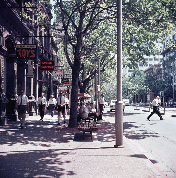 Hearns Hobbies. Collins Street, Melbourne. Circa 1970.