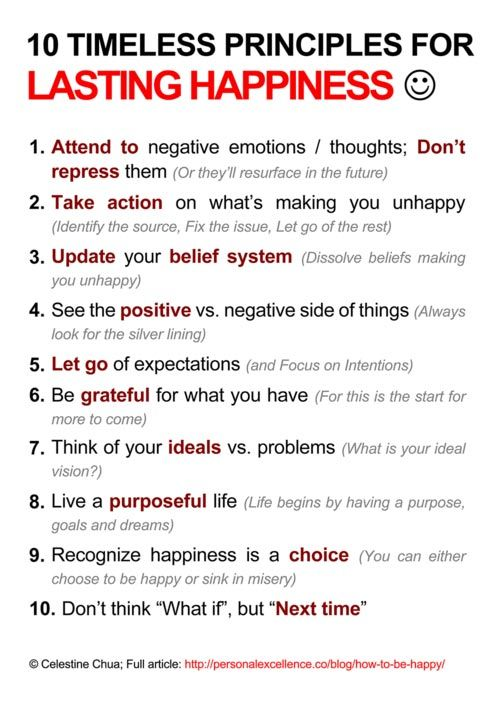 10 principles for lasting happiness – It's a choice