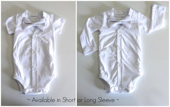 White Baptism or Christening Outfit for Boys. by CuddleSleepDream