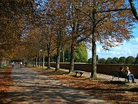Been here - it's a tree-lined road for walking/running on the wall that surrounds the city - beautiful!