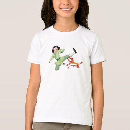 Mulan and Mushu Kicking T-Shirt - click/tap to personalize and buy