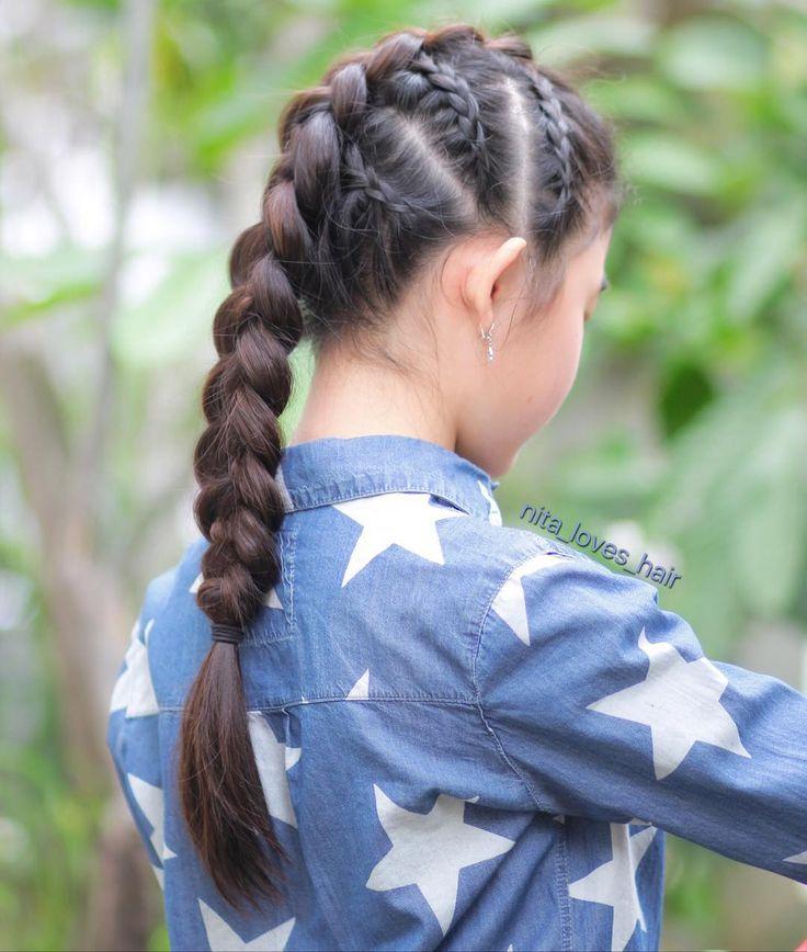 Doing cornrows on school morning is making me nervous. Instead of finishing it with pullthrough braid (which was first plan) I just did the dutchbraid . . #braidsforlittlegirls #hair #hairstyle #instahair #hairstyles #hairdo #haircut #longhairdontcare #braid #straighthair #longhair #blackhair #hairoftheday #hairideas #braidideas #perfecthair #hairfashion #hairofinstagram #hairinspiration #braidphotos #sweetheartshairdesign #featuremejehat #kepang #kepangrambut #kepanganak #kepangmodern