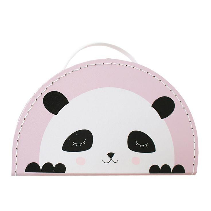 Kids Boetiek Koffer Panda Pink
