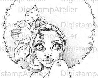 African Beauty. INSTANT DOWNLOAD Digital Digi por digistampatelier