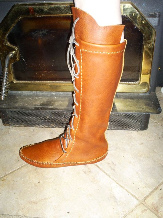 Leather Boots And Moccasins Handmade Buckskin Moccasin