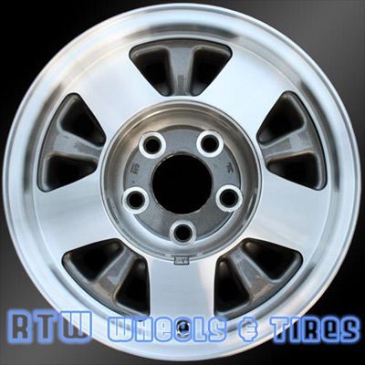 "Chevy 20 Van wheels for sale 1992-1999. 15"" Machined Charcoal rims 5016 - http://www.rtwwheels.com/store/?post_type=product&p=33001"