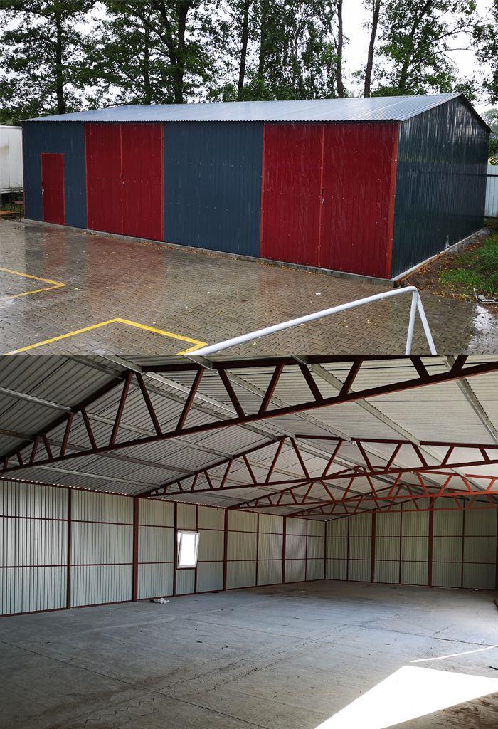 Wiata Garazowa Blaszak Dach Dwuspadowy Hala 8x9m Outdoor Decor Garage Doors Home Decor