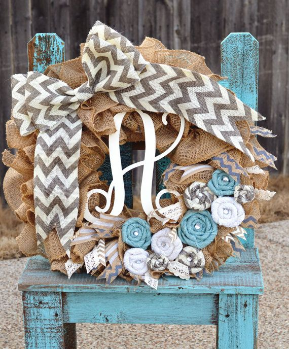 Hey, I found this really awesome Etsy listing at https://www.etsy.com/listing/177866850/chevron-wreath-burlap-wreath-summer