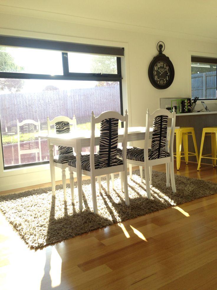 Our beautiful new home!  #zebrachairs #yellowandblack #houseandgarden
