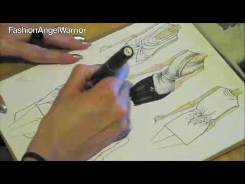 Fashion Sketching 101- How to become a fashion designer - YouTube