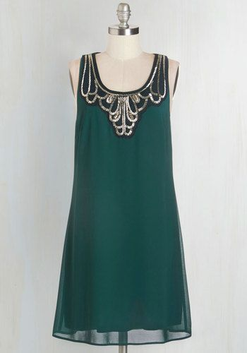 Idea on Arrival Dress in Teal. Shortly after greeting your guests in this rich teal dress, you suggest a relocation to your rooftop deck. #green #modcloth