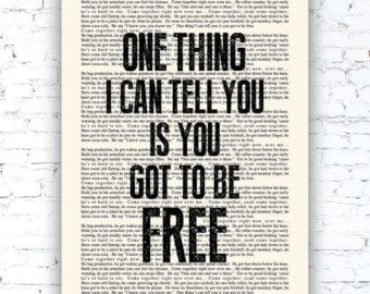come together book page the beatles lyrics poster print studio wall art - Prints On Old Book Pages