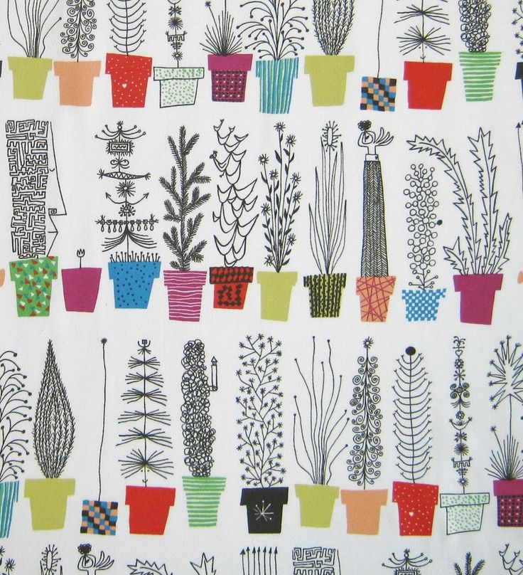 Image of Scandinavian Fabric - Plant Pots