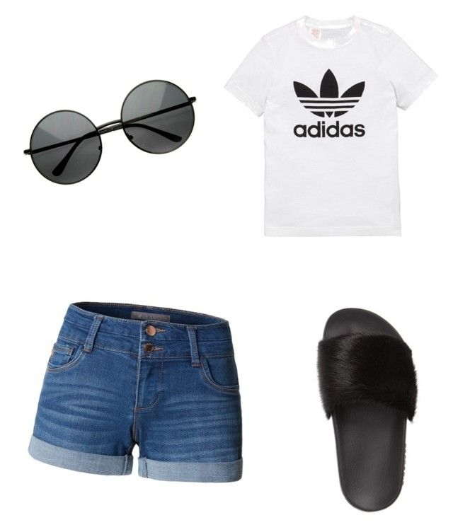 """""""Untitled #15"""" by alexandra-kermanidis on Polyvore featuring LE3NO, adidas Originals and Givenchy"""