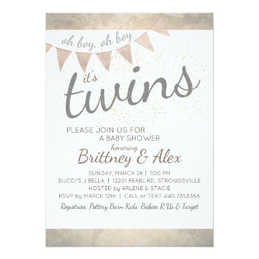 642 best twin babies invitations and gifts for everyone images on baby shower invitation stopboris Image collections