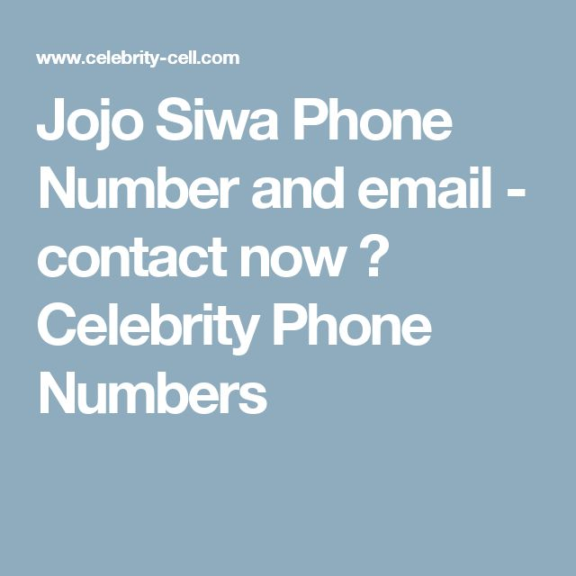 Jojo Siwa Phone Number and email - contact now ⋆ Celebrity Phone Numbers