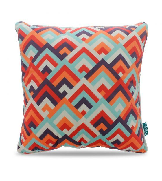 Intimo collection Sierkussen Retro peaks multicolour polyester 45x45cm - wonenmetlef.nl