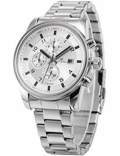 KS Herren Automatische Mechanische Armbanduhr Analog Edelstahl Armband Datumanzeige KS180 - http://uhr.haus/ks/ks-herren-automatische-mechanische-armbanduhr-10