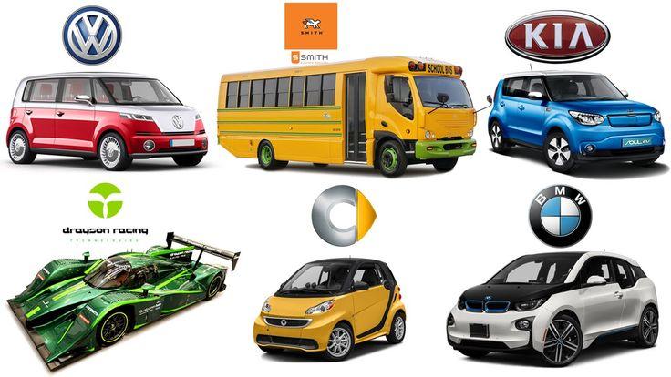 Электромобили  Учим Виды Транспорта и Марки Машин  Собираем Большой Пазл