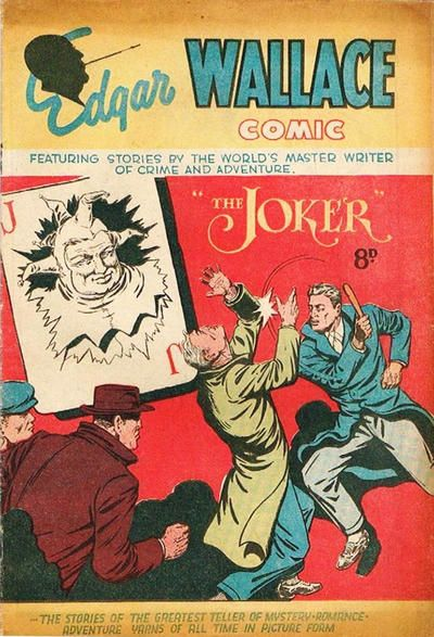 "Cover for Edgar Wallace Comic ""The Joker"" (Young's Merchandising Company, 1950 ? series) #[nn]"