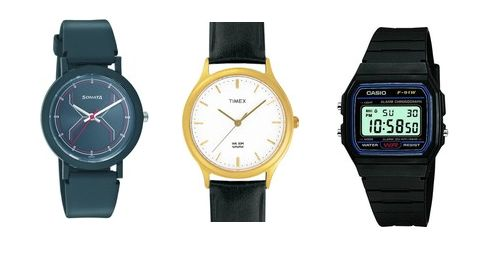 One day sale ... !!!  Sonata , Timex , Maxima Watches at Upto 40 % OFF + Extra 10 % OFF Starting at Rs. 292 . . This offer is valid only for the selected watches