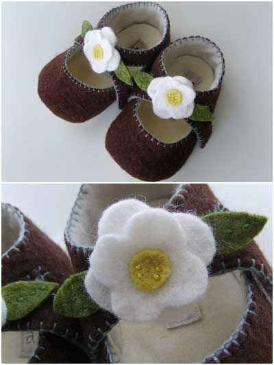 Lilly Baby Mary Janes Sewing Pattern Download from e-PatternsCentral.com -- Lilly Baby Mary Janes are exquisite little felt booties that are designed in the style of Mary Jane shoes.