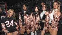 (L-R) Ally Brooke, Normani Hamilton, Camila Cabello,   Lauren Jauregui, and Dinah Jane Hansen of Fifth Harmony pose backstage during Power 96.1's Jingle Ball 2016 at Philips Arena on December 16, 2016 in Atlanta, Georgia.  (Photo by Paras Griffin/Getty Images for iHeart)