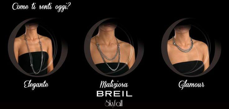 La femminilità ha diverse facce: elegante, maliziosa e glamour. La nuova collana Skyfall le racchiude tutte. In pochi semplici gesti può essere indossata in tutta la sua lunghezza o, spostando l'aggancio delle chiusure, come girocollo o collier a doppio giro.