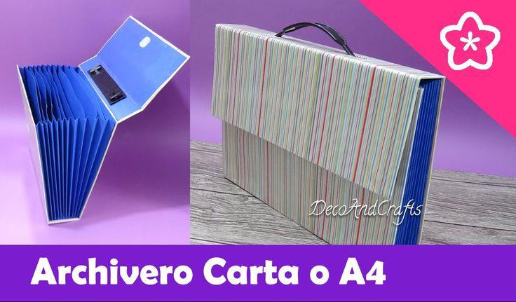 Maletín Archivero de cartón Tamaño Carta - DecoAndCrafts